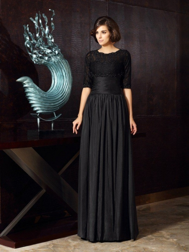 A-Line/Princess Sweetheart Applique Sleeveless Long Taffeta Mother of the Bride Dresses